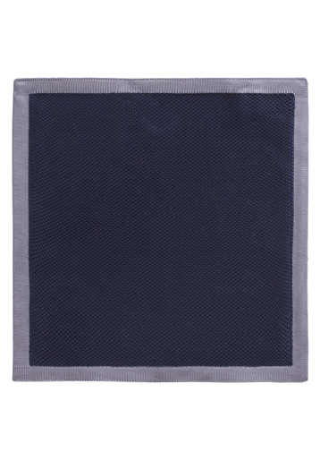 Gibson Navy With Grey Trim Hankie