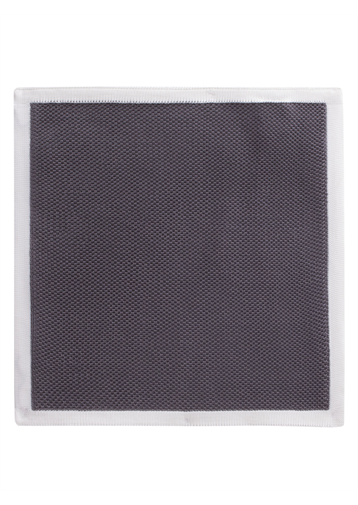 Gibson Grey With Cream Trim Hankie