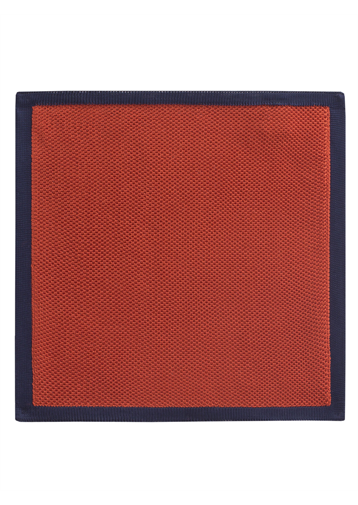 Gibson Orange With Navy Trim Hankie