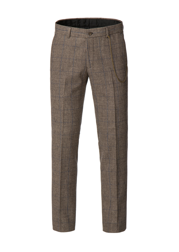 Gibson Fawn Prince of Wales Check with Blue over check trousers