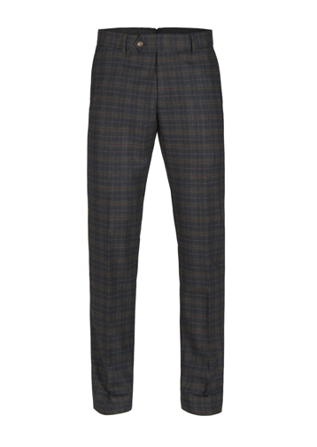 Gibson Green and Red soft check trousers