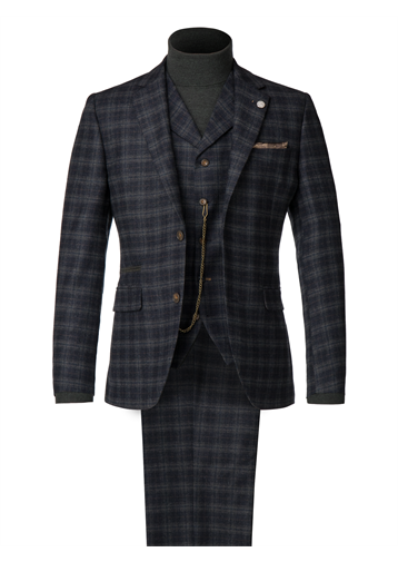 Blue and Orange Soft Check Jacket