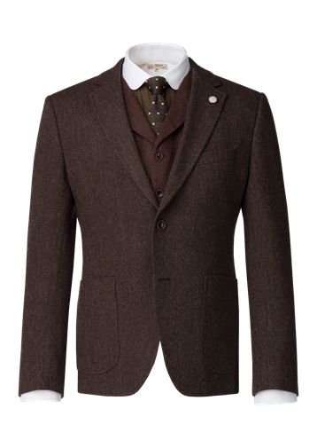 Gibson Brown Textured weave wool Jacket