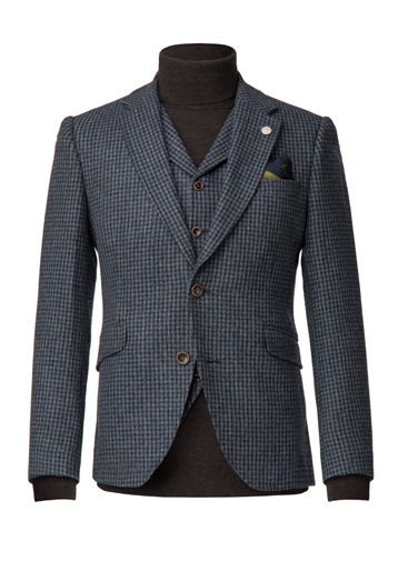 Gibson Blue muted check wool jacket
