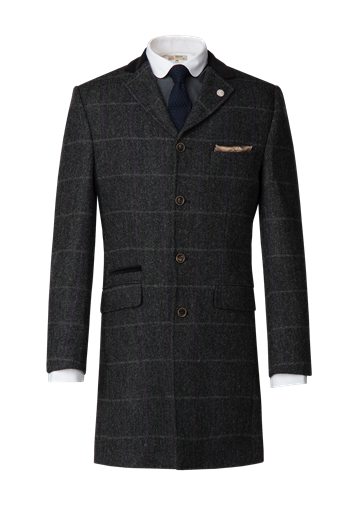 Gibson Charcoal Check Tweed Coat