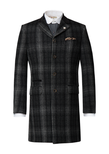 Gibson Grey Check Heavy Wool Coat