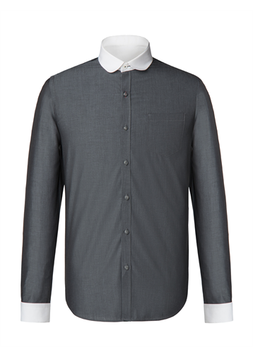 Gibson Grey Tonic Penny Round Shirt
