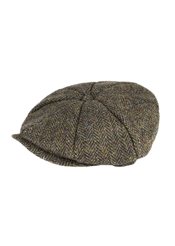 Gibson Brown Harris Tweed Baker Boy Hat