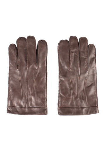 Gibson Cognac Leather Gloves