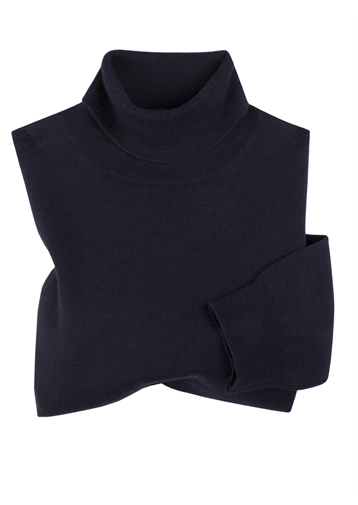 Gibson Navy Merino Polo Neck Jumper