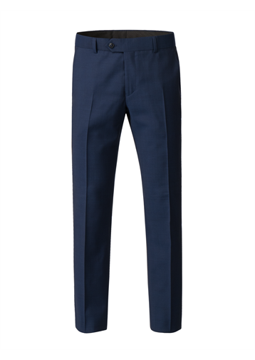 Gibson Bright Blue Diamond Effect Trousers