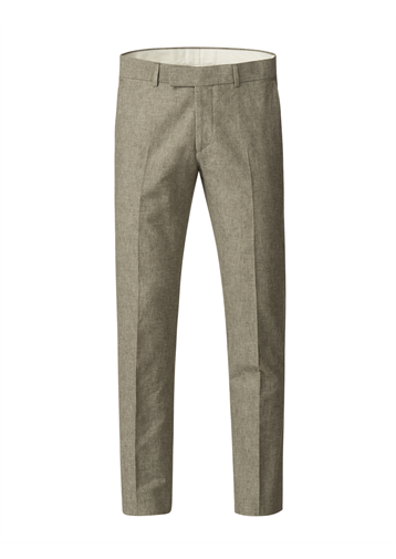 Gibson Green Linen Blend Trousers
