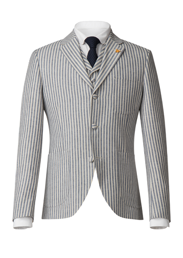 Gibson Blue and White Stripe Jacket