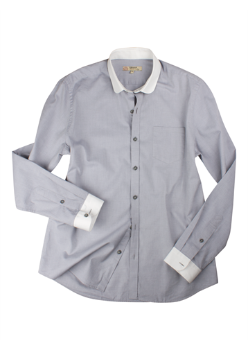 Gibson Grey Penny Round Shirt