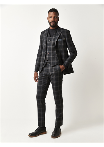 Charcoal Tartan Check Jacket