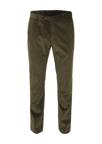 Gibson Dark Olive Cord Trousers