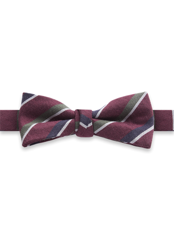 Gibson Wine Stripe Bow tie