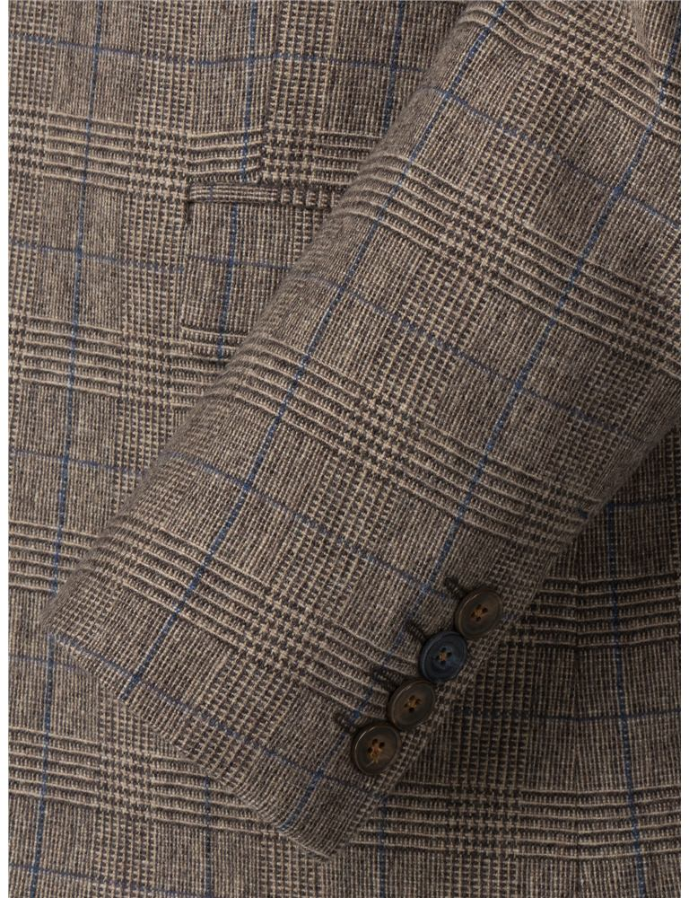 Gibson Fawn Prince of Wales Check with Blue over check trousers on treasury check, bank of america check, anatomy of check, suntrust check, starter check,
