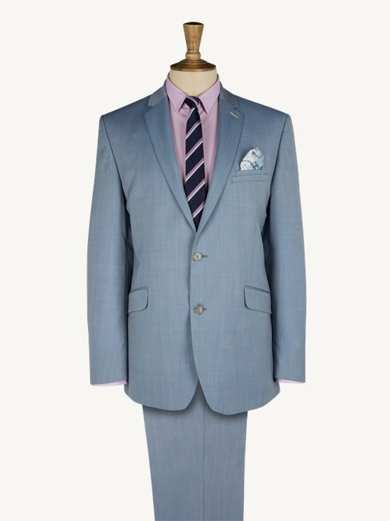 Pale Blue Two Tone Two Piece Suit- currently unavailable