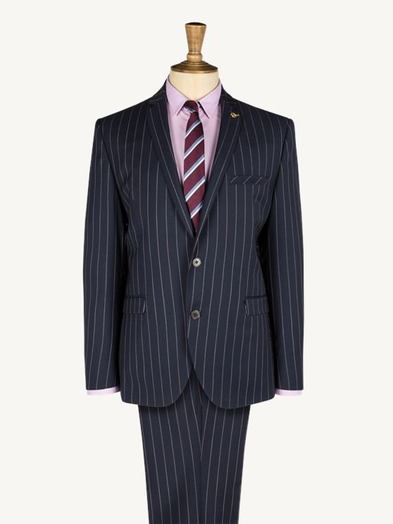 Navy Tri Colour Stripe Two Piece Suit- currently unavailable