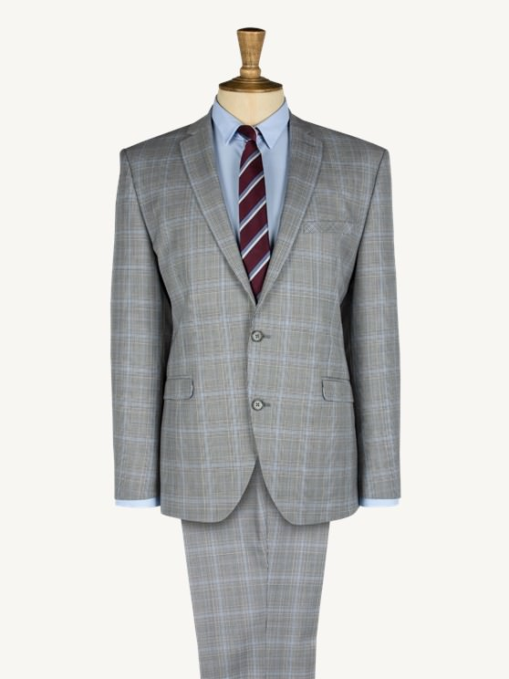 Lilac And Teal Large Check Two Piece Suit- currently unavailable