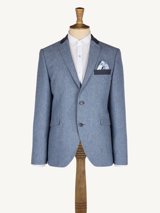 Blue Linen Jacket- currently unavailable