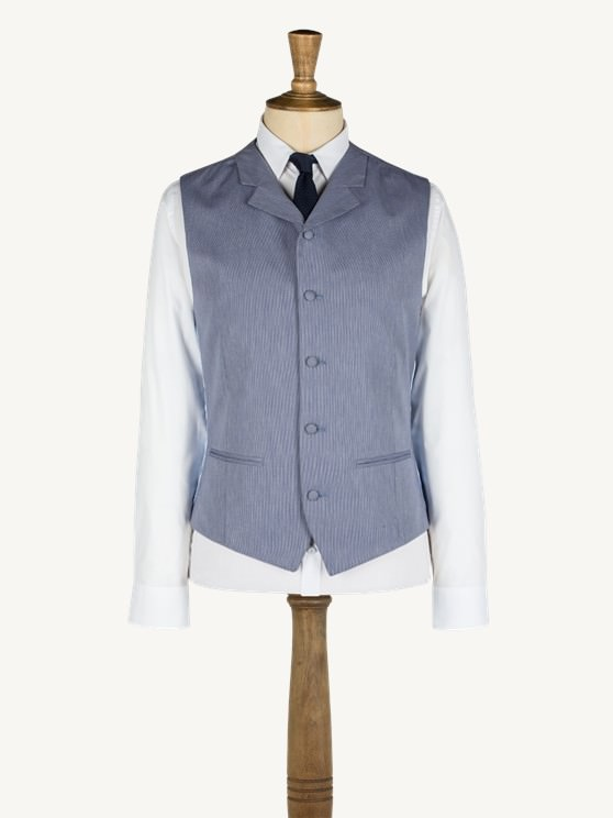 Blue hairline stripe waistcoat- currently unavailable