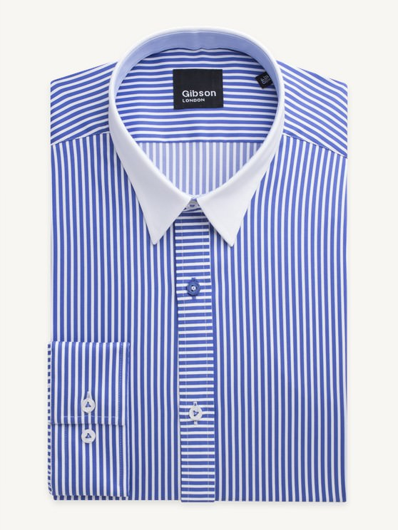 Royal Blue Stripe Shirt- currently unavailable
