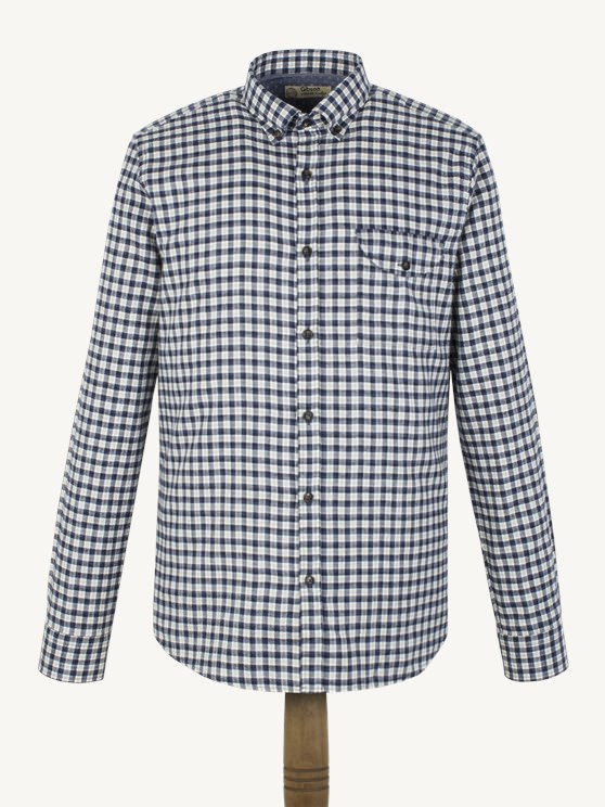 Blue Flannel Check Shirt