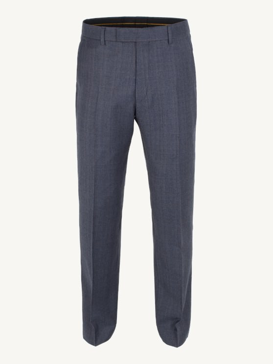 Dark Blue Check Plain Front Trouser- currently unavailable