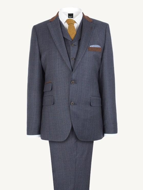 Dark Blue with Tan Overcheck Jacket- currently unavailable
