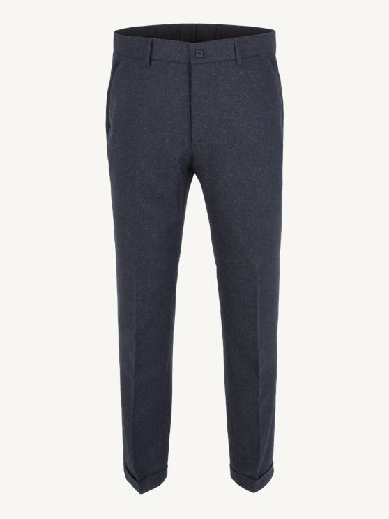 Navy Donegal Plain Front Trouser- currently unavailable