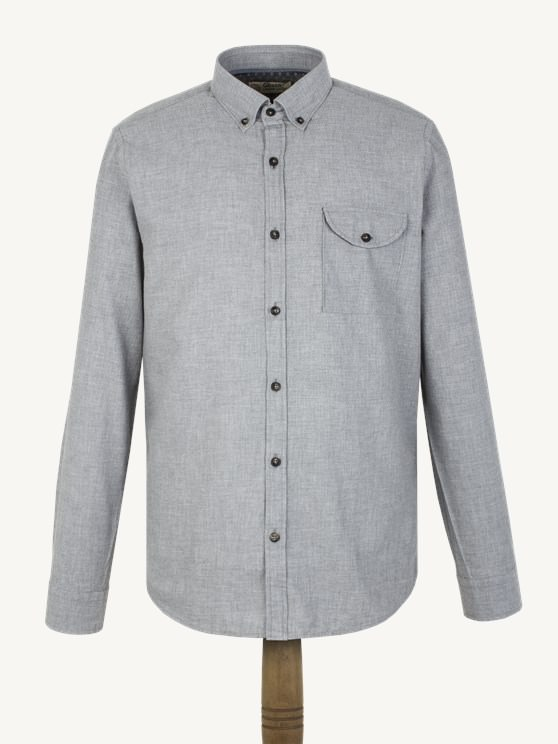 Silver Grey Flannel Shirt