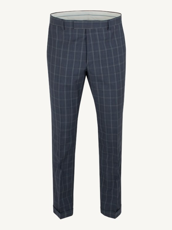 Navy Windowpane Check Trousers- currently unavailable