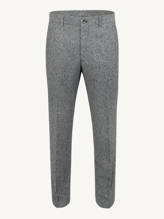 Grey Donegal Plain Front Trousers- currently unavailable