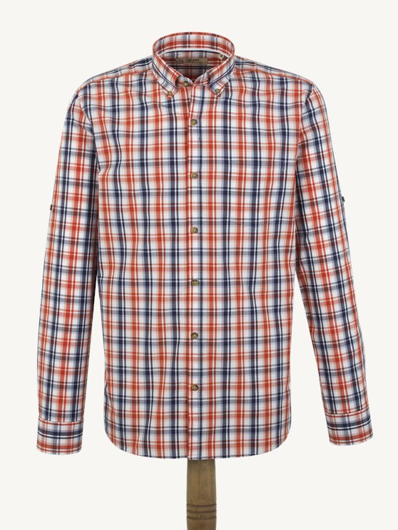 Orange Check Shirt