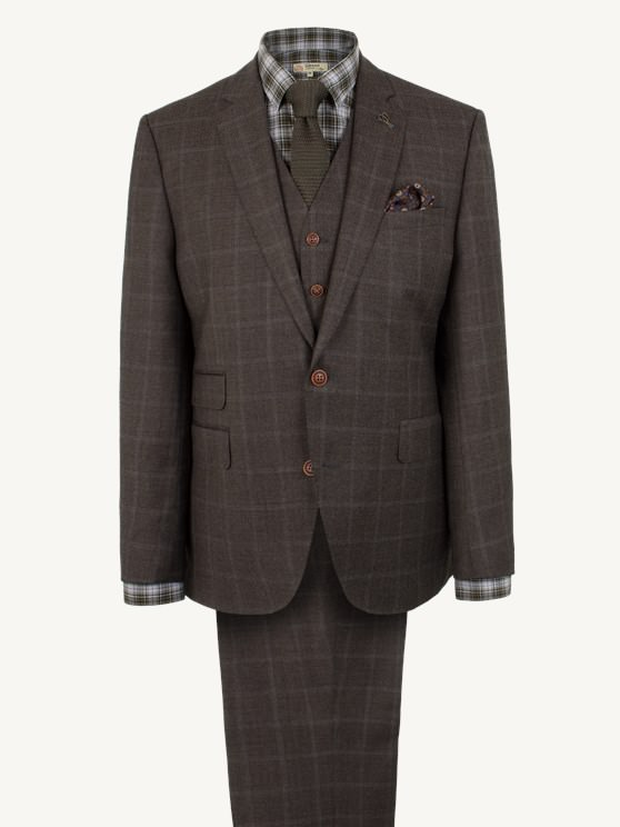 Brown Check Suit