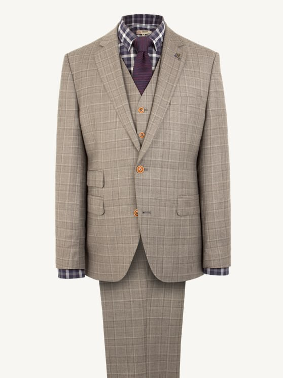 Taupe Pick N Pick Suit Jacket