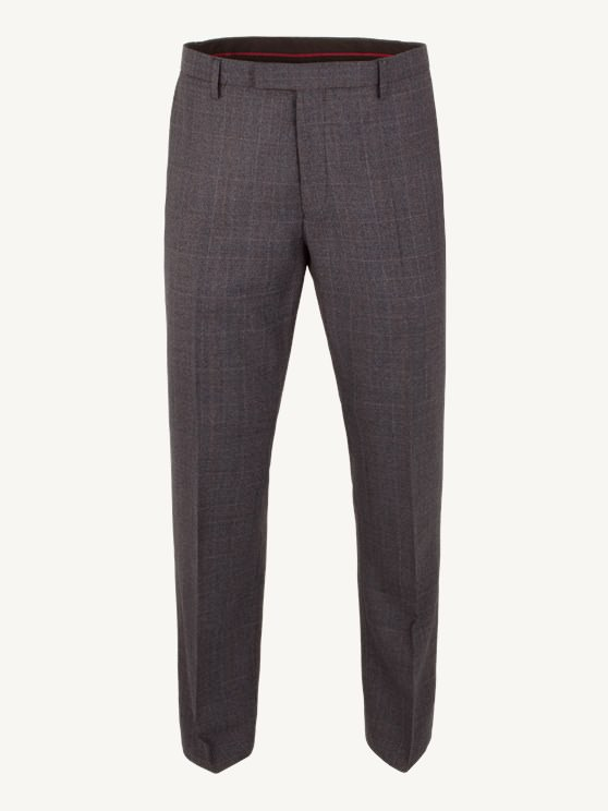 Blue Check Plain Front Trousers- currently unavailable