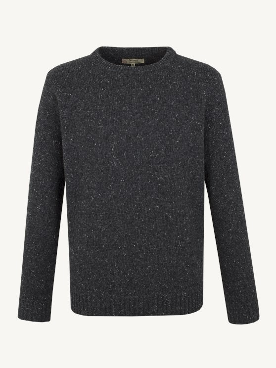 CREW NECK SWEATER WITH DONEGAL FLECK- currently unavailable