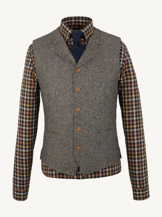 Taupe Donegal Waistcoat- currently unavailable