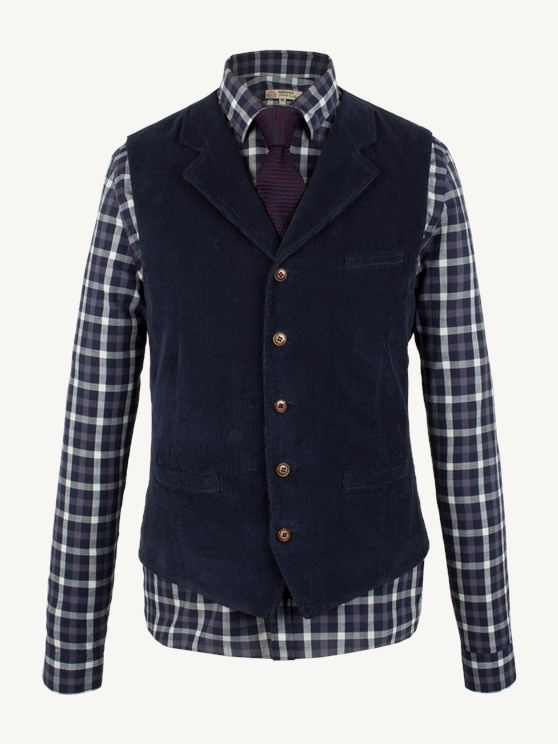 Navy Cord Waistcoat- currently unavailable