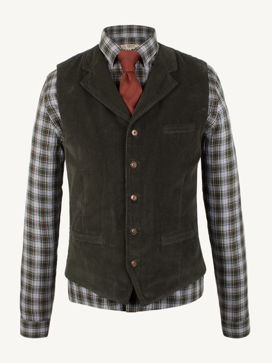 Green Cord Waistcoat- currently unavailable