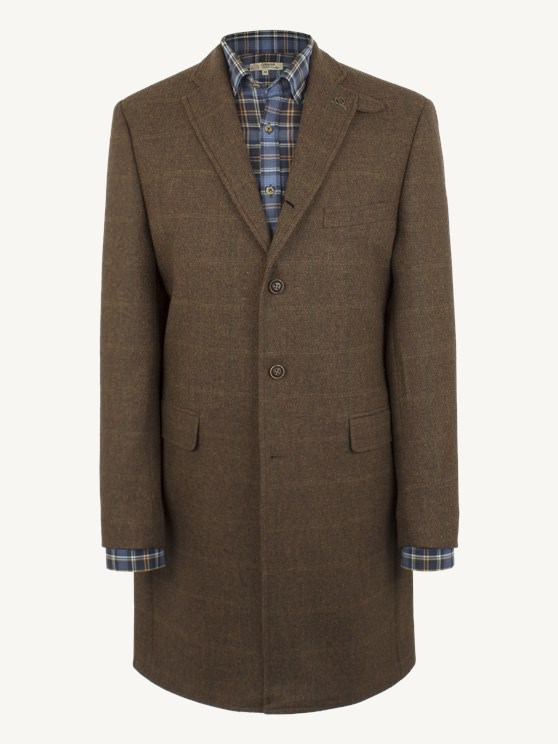Rust Check Overcoat- currently unavailable