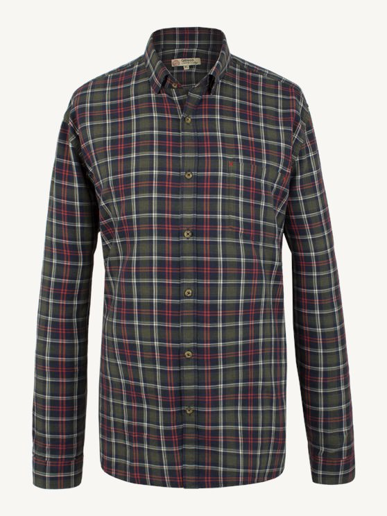 GREEN AND ORANGE CHECK SHIRT- currently unavailable