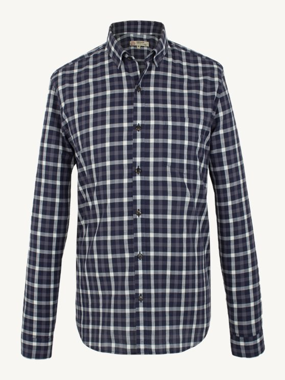 NAVY MULTI CHECK SHIRT