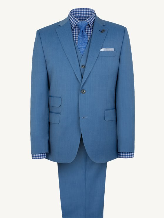 Pale Blue Single Breasted Suit- currently unavailable