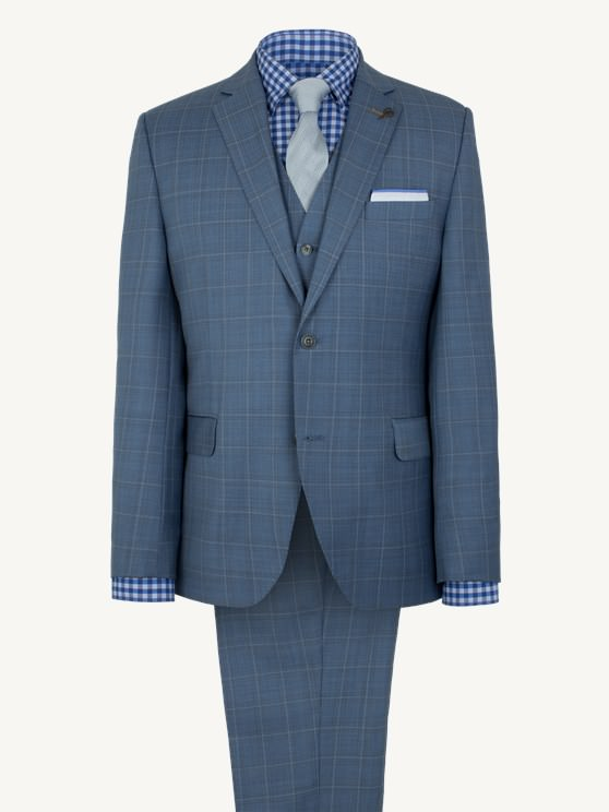 Pale Blue Check Jacket