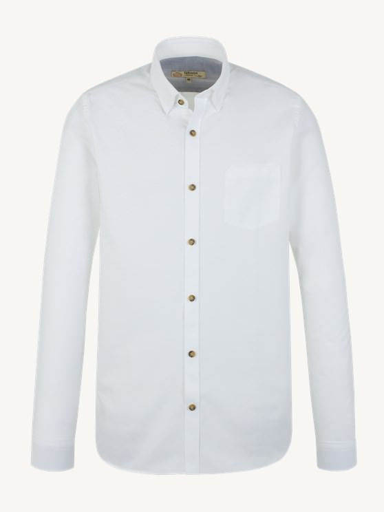 White Cotton Long Sleeve Shirt- currently unavailable