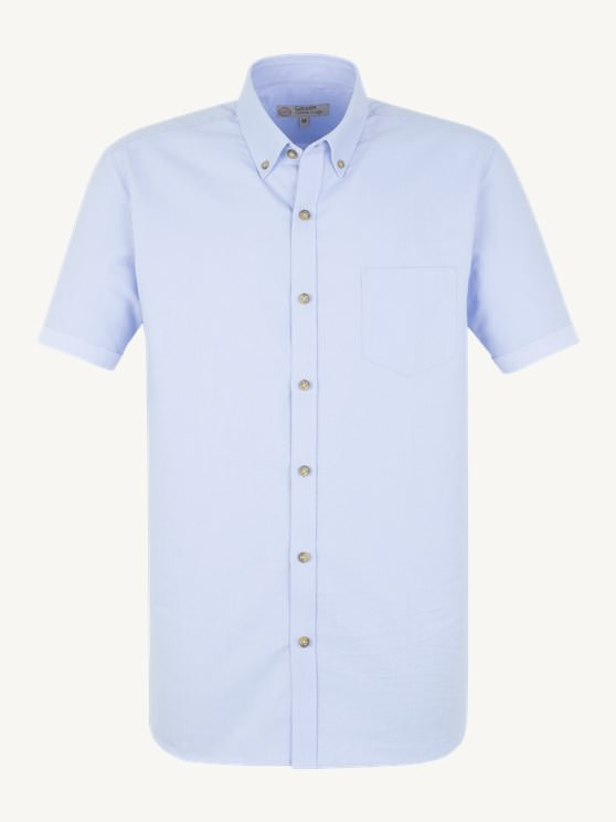 Pale Blue Cotton Short Sleeve Shirt- currently unavailable